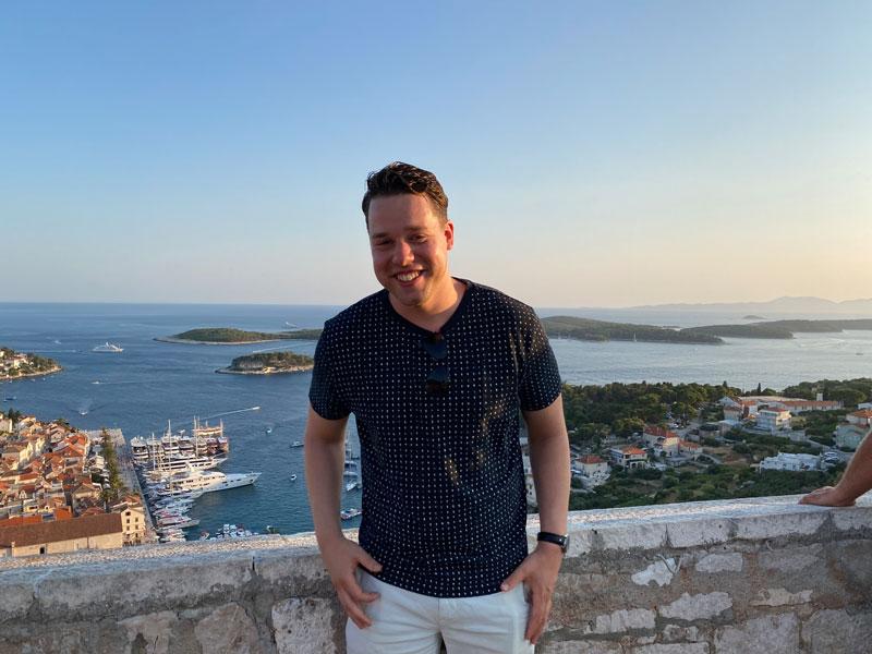 Uitzicht Mljet tijdens de groepsreis naar bekende eilanden in Kroatië
