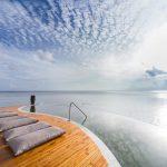 Relaxen in de hangmat op het eiland Praslin