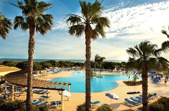 Resort in Albufeira aan het strand
