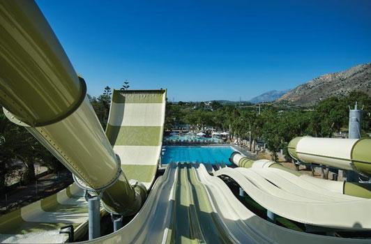 Hotel met zwemparadijs in Kreta met tieners
