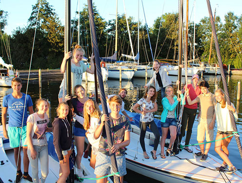 Zeilkamp voor tieners in Nederland