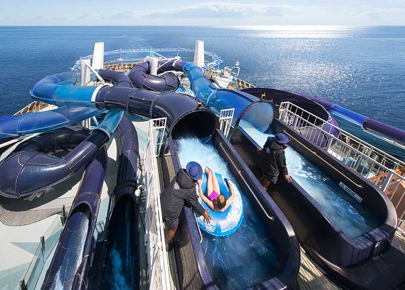 aquapark op cruiseschip