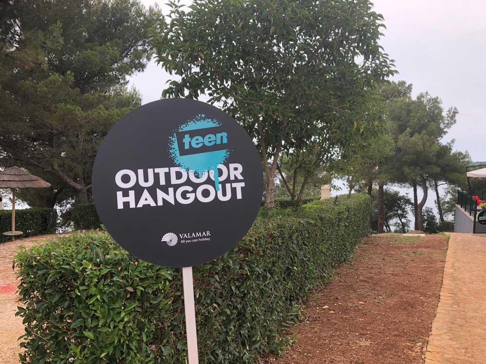 Hangout voor tieners op camping Lanterna te Kroatië