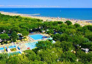Super camping aan het strand in Italië