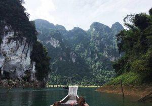 Jungletocht, longtailboot Khao Sok, Thailand