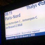 Met de trein naar Parijs, hoe werkt dat?