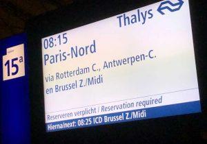 Met de Thalys naar Parijs