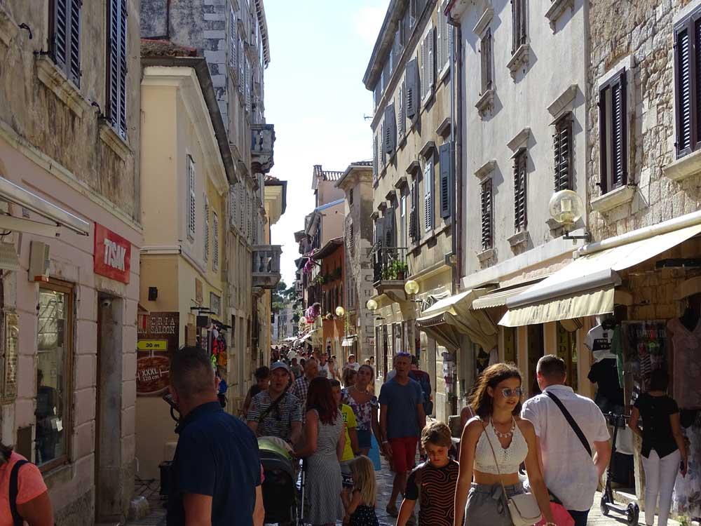 Naar het stadje Porec in Kroatië