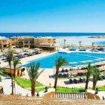 Luxe resort in de woestijn van Egypte